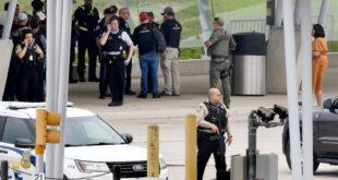 Pentagon shooting scene